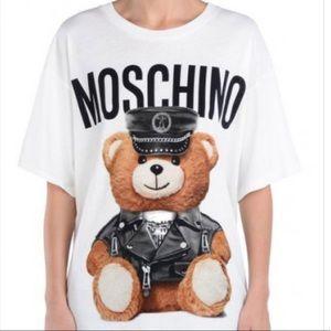 b22ead7290 Moschino Police Teddy Bear Short Sleeve T-Shirt
